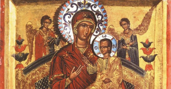 Икона Богородицы Всецарица Пантанасса