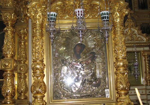 Тихвинская икона Богоматери Слезоточивая