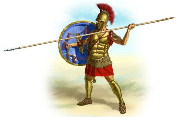 Шлемы древнегреческих воинов