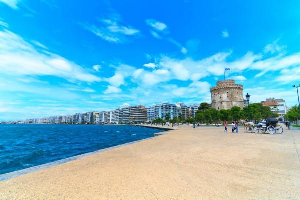 Салоники пляж