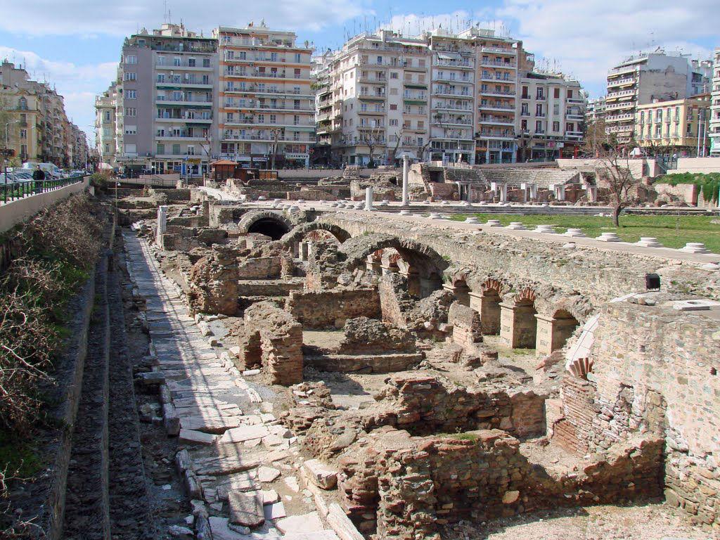 Салоники. Экскурсия в Салоники. Римский форум в салониках
