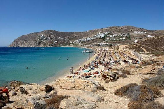 миконос пляж элья