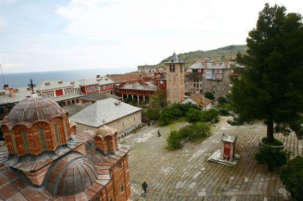 Афон. Монастырь Ватопед