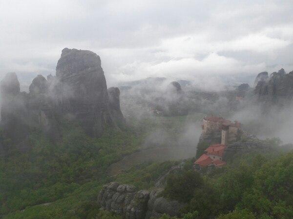 Монастыри Метеоры в Греции.